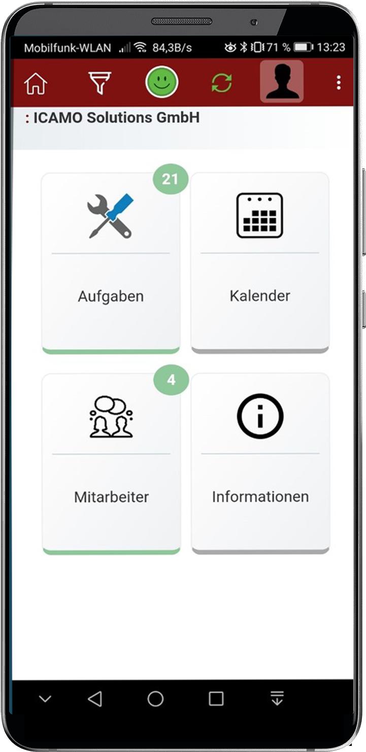 Mobil Aufgaben auf Tablet oder Handy erfassen