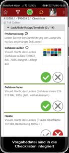 In die mobilen digitalen Checklisten können Vorgabebilder integriert werden