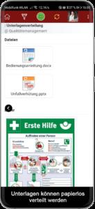 Integriertes Dokumentenmanagementsystem zur mobilen Verteilung von Unterlagen