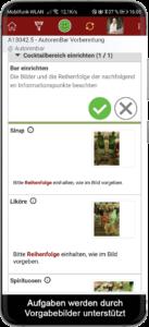 Bebilderte Arbeitsvorgaben für Angestellte im Gastgewerbe digital zur Verfügung stellen